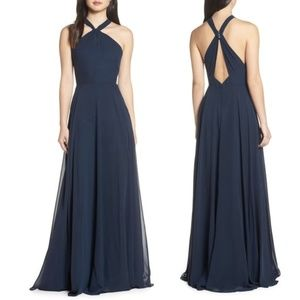 JENNY YOO Halle Halter Evening Dress 10